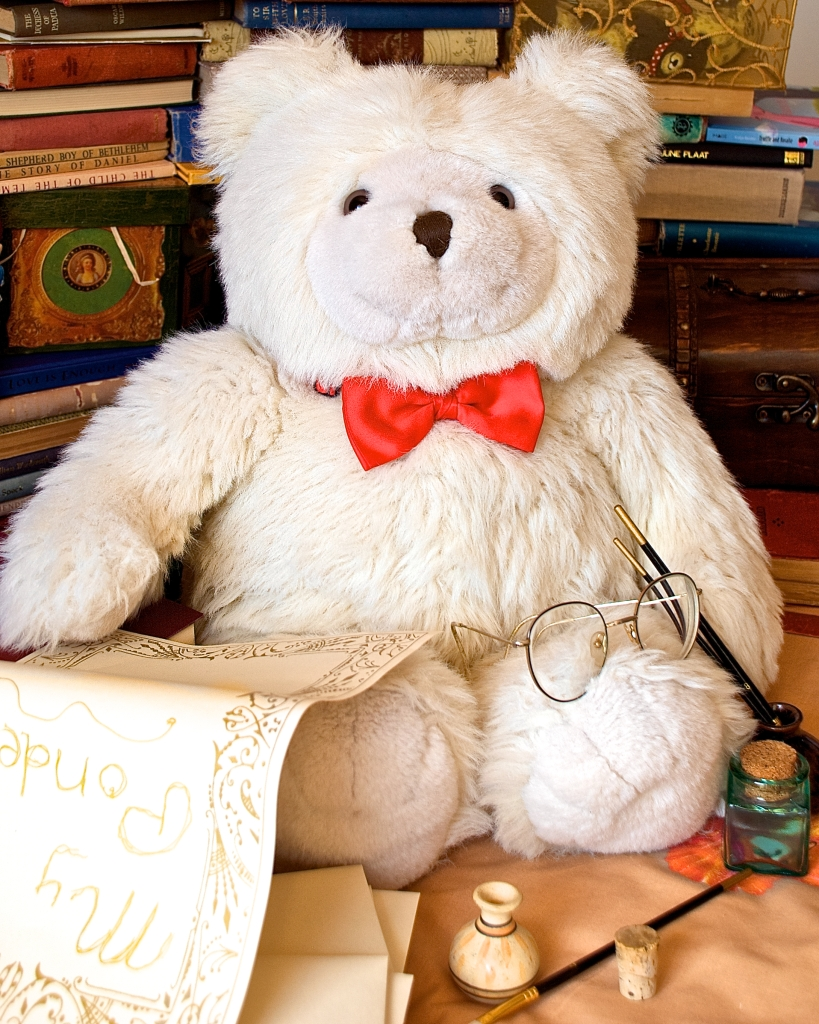 Mawson, one of this bright world's few published writer-bears.